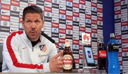 """Foto: Simeone: """"Esperaría para opinar, el objetivo es ser tercero"""" (ÁNGEL GUTIÉRREZ)"""