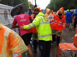 Foto: 96 atendidos en la maratón (EMERGENCIAS MADRID)