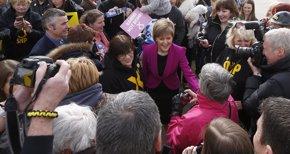 Foto: Los nacionalistas arrasarían en Escocia y obtendrían 57 de los 59 escaños (RUSSELL CHEYNE / REUTERS)