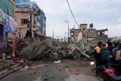 Foto: Nepal.- El balanç oficial de morts pel terratrèmol supera ja els 5.200 (EUROPAPRESS)