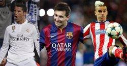 Foto: Messi, a un gol de Cristiano al Pichichi (EUROPA PRESS)