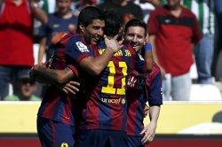 Foto: Lliga BBVA.- Crònica del Còrdova - Barcelona, 0-8 (JAVIER BARBANCHO / REUTERS)