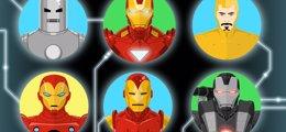 Foto: Las 50 armaduras de Iron Man (MASHABLE)