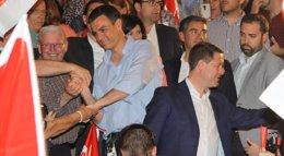 Foto: Pedro Sánchez promete aumentar la oferta de Formación Profesional en 200.000 plazas en una legislatura (EUROPA PRESS/PSOE)