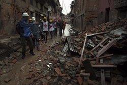 Foto: Destrucció de biblioteques al Nepal (AAPO HUHTA / CRUZ ROJA FINLANDESA)