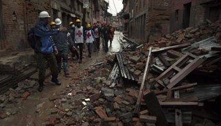 Destrucció de biblioteques al Nepal
