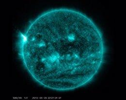 Foto: El Sol libera la llamarada más potente del año (NASA)