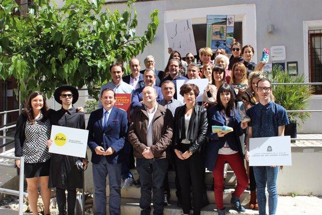 Javier Erro ha participado en la entrega de premios de la 2ª Edición del  Concurso de diseño de alpargatas