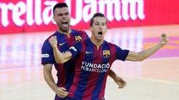 Foto: El Barça vence a ElPozo en el primer partido de semifinales (FC BARCELONA)