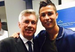 """Foto: Cristiano: """"Espero trabajar con Ancelotti la próxima temporada"""" (TWITTER)"""