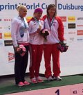 Foto: Teresa Portela, medalla de bronce en la Copa del Mundo de Duisburgo (WWW.RFEP.ES)