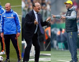 Foto: Benítez, Klopp y Zidane, posibles candidatos a relevar a Ancelotti (REUTERS)