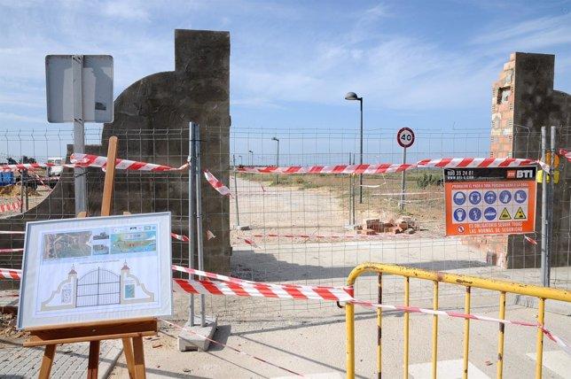 Obras de la puerta de san fernando al parque natural bah a - Puerta europa almeria ...