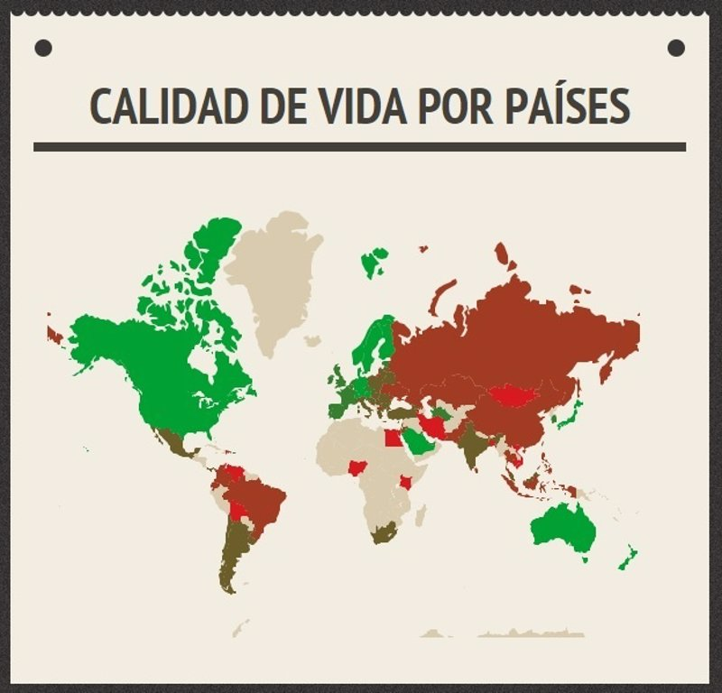 Los pa ses con mayor calidad de vida seg n los propios - Ciudades con mejor calidad de vida en espana ...
