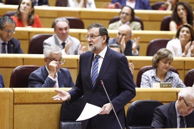 Mariano Rajoy en el Senado