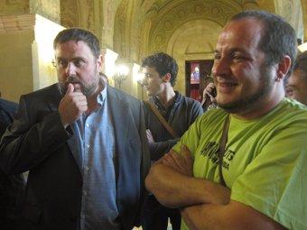 Junqueras (ERC) y Fernández (CUP) advierten que reducir el proceso a una opción el 27S es no entenderlo