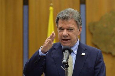 Foto: Santos advierte de que las acciones terroristas obligan al Ejército a mantener la ofensiva (PRESIDENCIA COLOMBIA/EP)