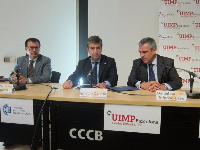 I.Cosidó (CNP) D.De Alfonso (OAC) J.J.Sanmartín (Cuimp)