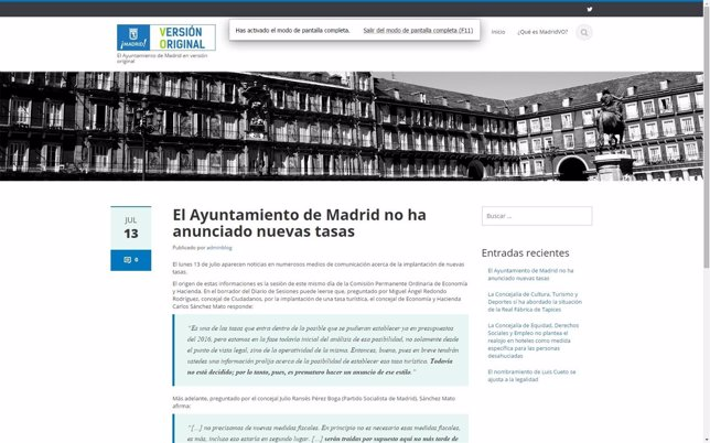 V.O. Ayuntamiento de Madrid