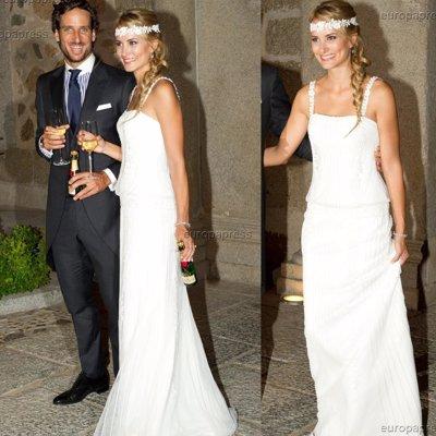 Foto: Alba Carrillo: tres vestidos de novia en su enlace con Feliciano López (IVÁN DEL MONTE/CHANCE)