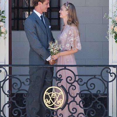 Foto: Primeras imágenes de la boda religiosa de Pierre Casiraghi y Beatrice en San Giovanni (INSTAGRAM/MAISON VALENTINO )