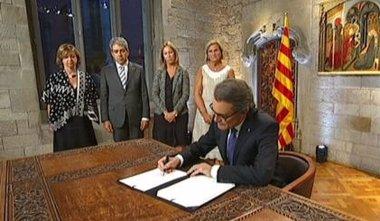 Foto: Mas convoca elecciones el 27S con reproches al Gobierno central por no permitir la consulta (GENCAT)