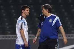 "Foto: Martino: ""Messi no se borró del amistoso ante México"" (REUTERS)"