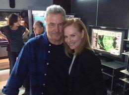 Foto: Primer vistazo al final de CSI, con Gil Grissom y Catherine Willows (MARG HELGENBERGER)