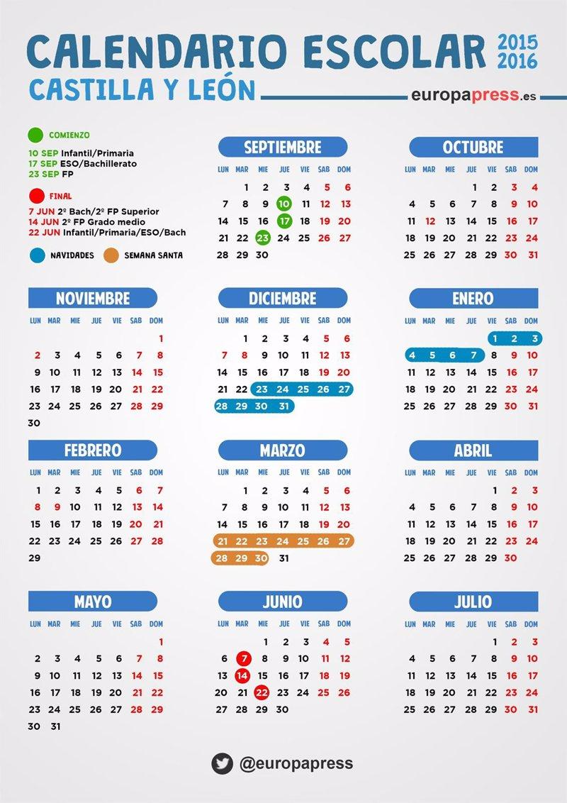 Calendario escolar 2015/2016 en Castilla y León: festivos, puentes y ...