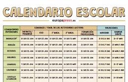 Foto: Calendario escolar 2015/2016: fiestas, Navidad, Semana Santa y vacaciones de verano (EUROPA PRESS)