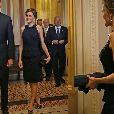 Foto: El peinado 'mágico' de la Reina Letizia (EL REY FELIPE Y LA REINA LETIZIA EN EL CAPITOLIO D)