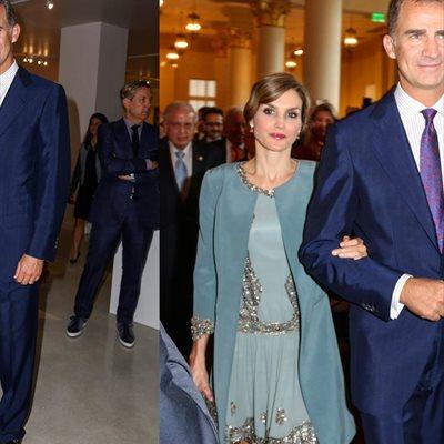 Foto: Letizia descubre el vestido no visto en la boda de Álvaro Fuster (REY FELIPE VI Y REINA LETIZIA//CORDON PRESS)