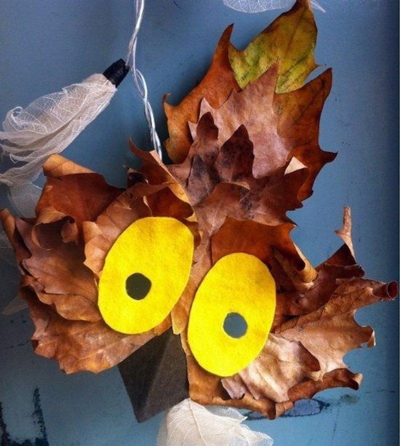 Equinocio de oto o 13 manualidades con hojas secas para - Manualidades para el otono ...