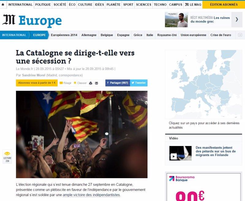 la prensa de cataluna: