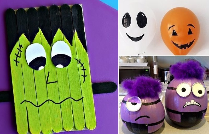 13 ideas de manualidades para ni os en halloween for Decoracion halloween manualidades