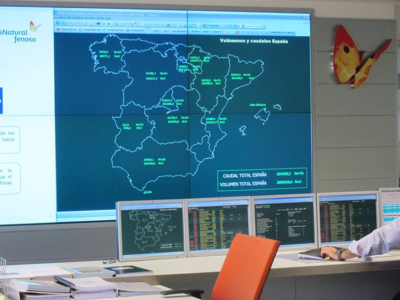Centro de control de gas natural fenosa for Gas natural servicios