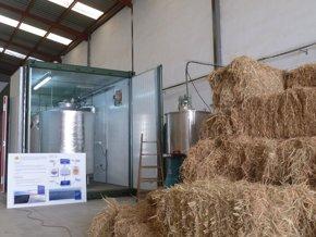 Foto: Crean la primera planta piloto semi-industrial que genera biogás y biofertilizante con la paja del arroz (AINIA)