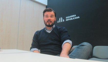 Rufián (ERC) rebutja que el 20D serveixi per negociar la independència a les Corts