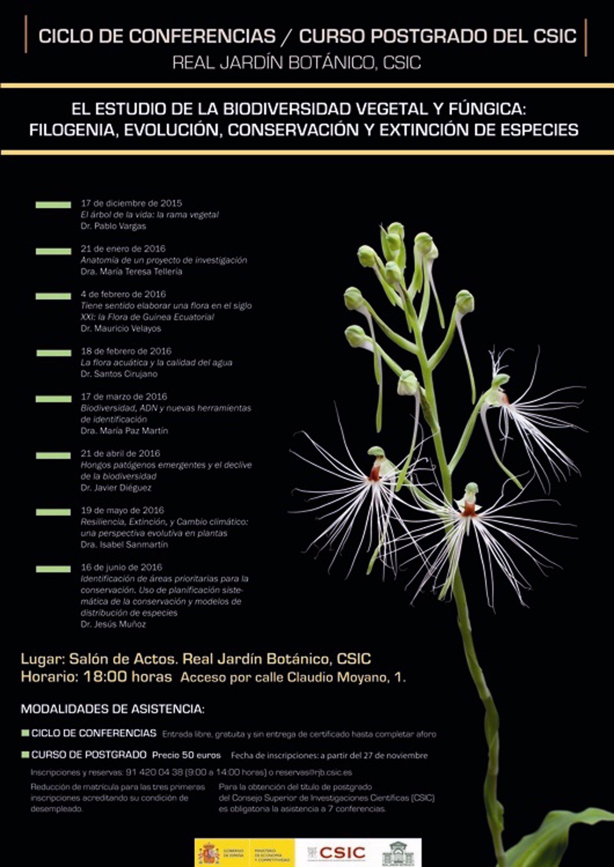 El real jard n bot nico organiza un ciclo de conferencias for Cursos jardin botanico 2016