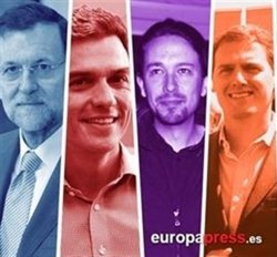 Sánchez, Rivera i Iglesias protagonitzen avui el primer debat digital a Espanya (EUROPA PRESS)