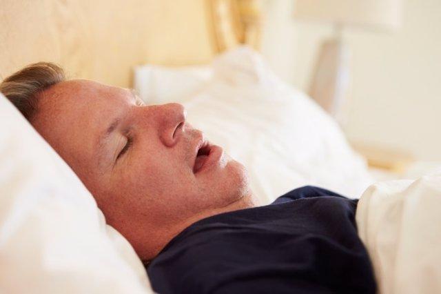 Hombre, dormir, dormido