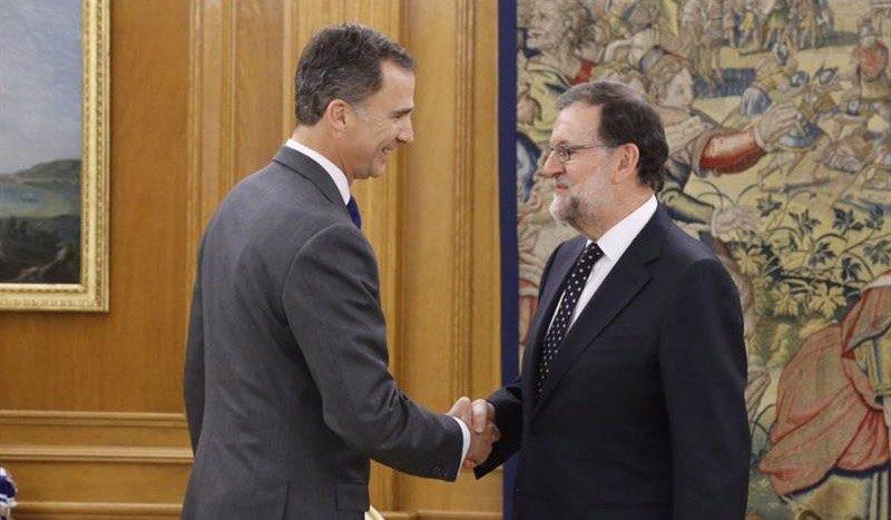"""Foto: Rajoy mantiene su candidatura, pero no se presenta porque """"todavía"""" no tiene apoyos (CASA DE S.M. EL REY)"""