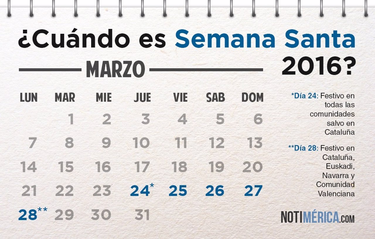 Calendario 2016 Mexico Semana Santa | 2017 - 2018 Best Cars Reviews