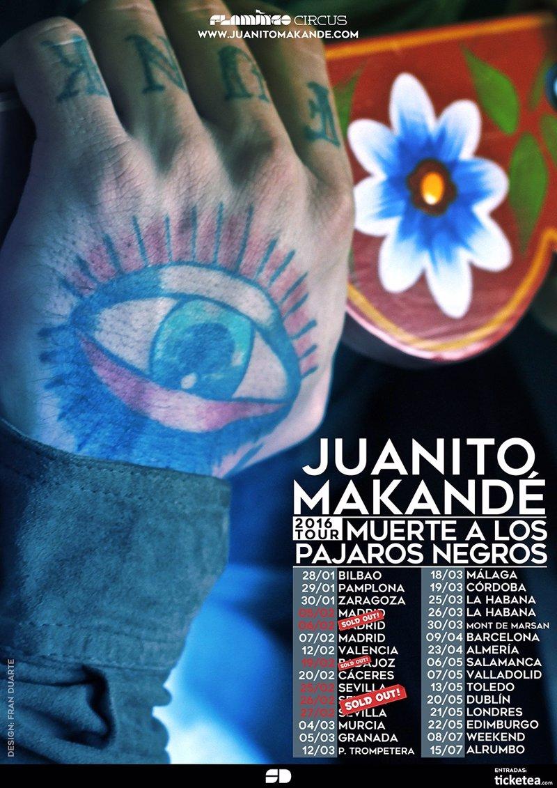 Juanito makand inicia la gira de 39 muerte a los p jaros for Juanito makande malaga