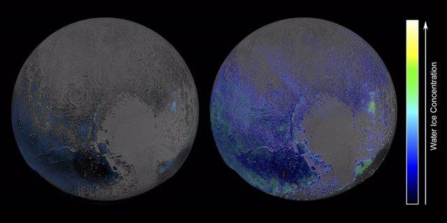 Plutón tiene abundante hielo de agua en superficie (NASA)