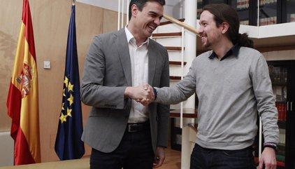 """Pedro Sánchez demana a Iglesias que reconsideri la seva posició """"excloent"""" i diu que continuarà negociant amb Ciutadans"""