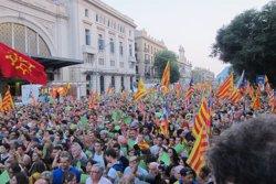 El 57,2% de catalans està a favor de la independència i un 32% en contra (EUROPA PRESS)