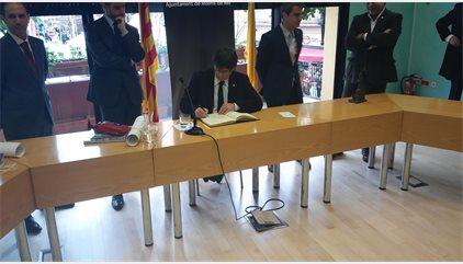 """Puigdemont lamenta que Rajoy utilitzés la paraula """"treva"""" per referir-se a Catalunya"""