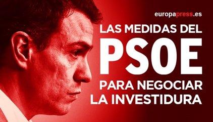 Estas son las 43 principales medidas que el PSOE propone para negociar la investidura de Pedro Sánchez