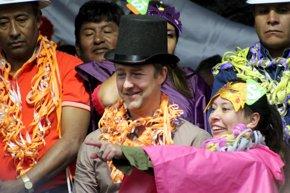 Foto: El actor Edward Norton, maestro de ceremonias en los carnavales de Bolivia (HANDOUT . / REUTERS)